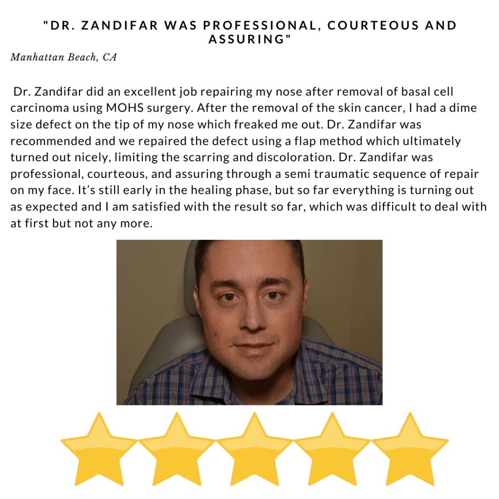 Dr. Zandifar was proffessional, courteous and assuring - Review