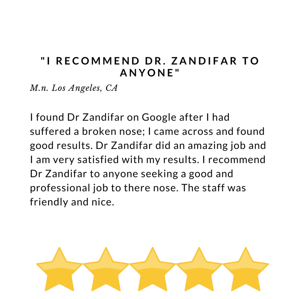 I recommend Dr. Zandifar to anyone - Review