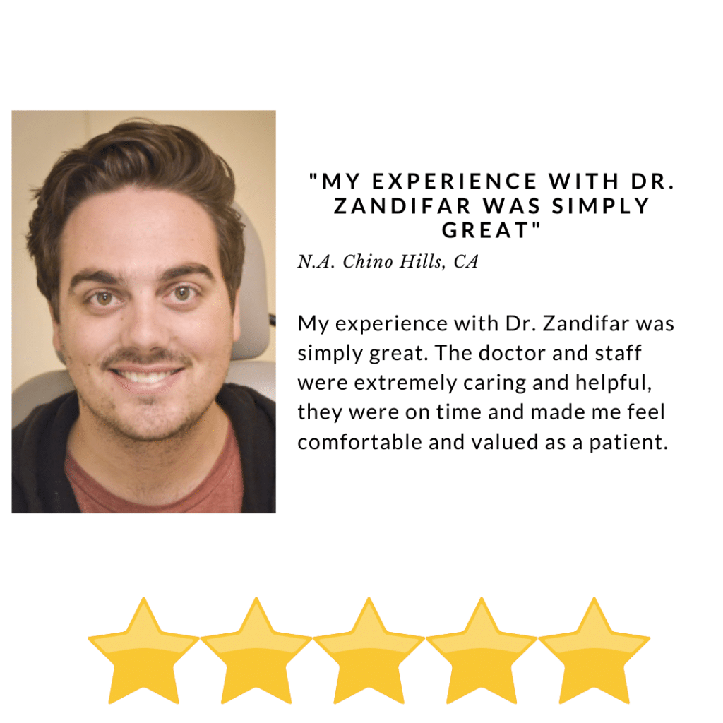 My experience with Dr. Zandifar was simply great - Review